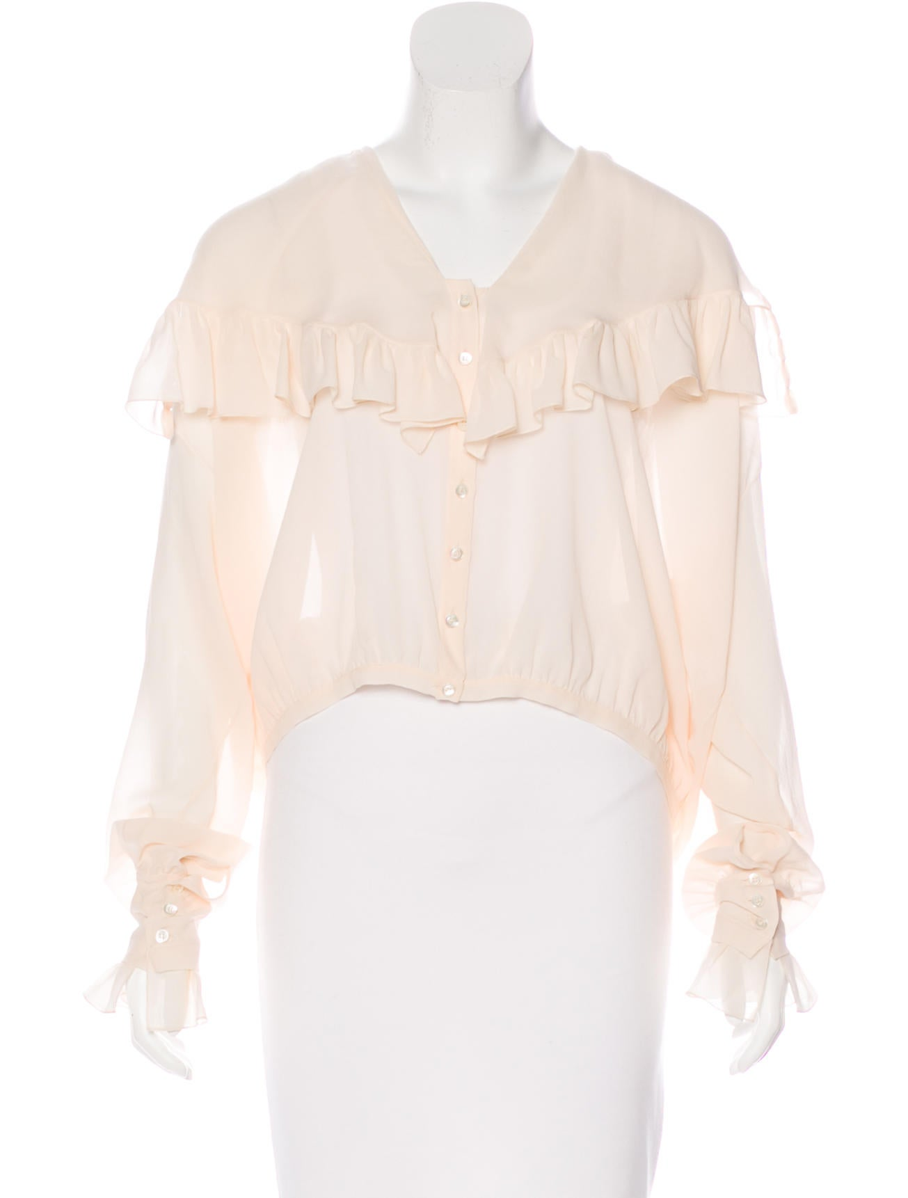 Christian dior silk button up blouse clothing chr62745 for Christian dior button up shirt