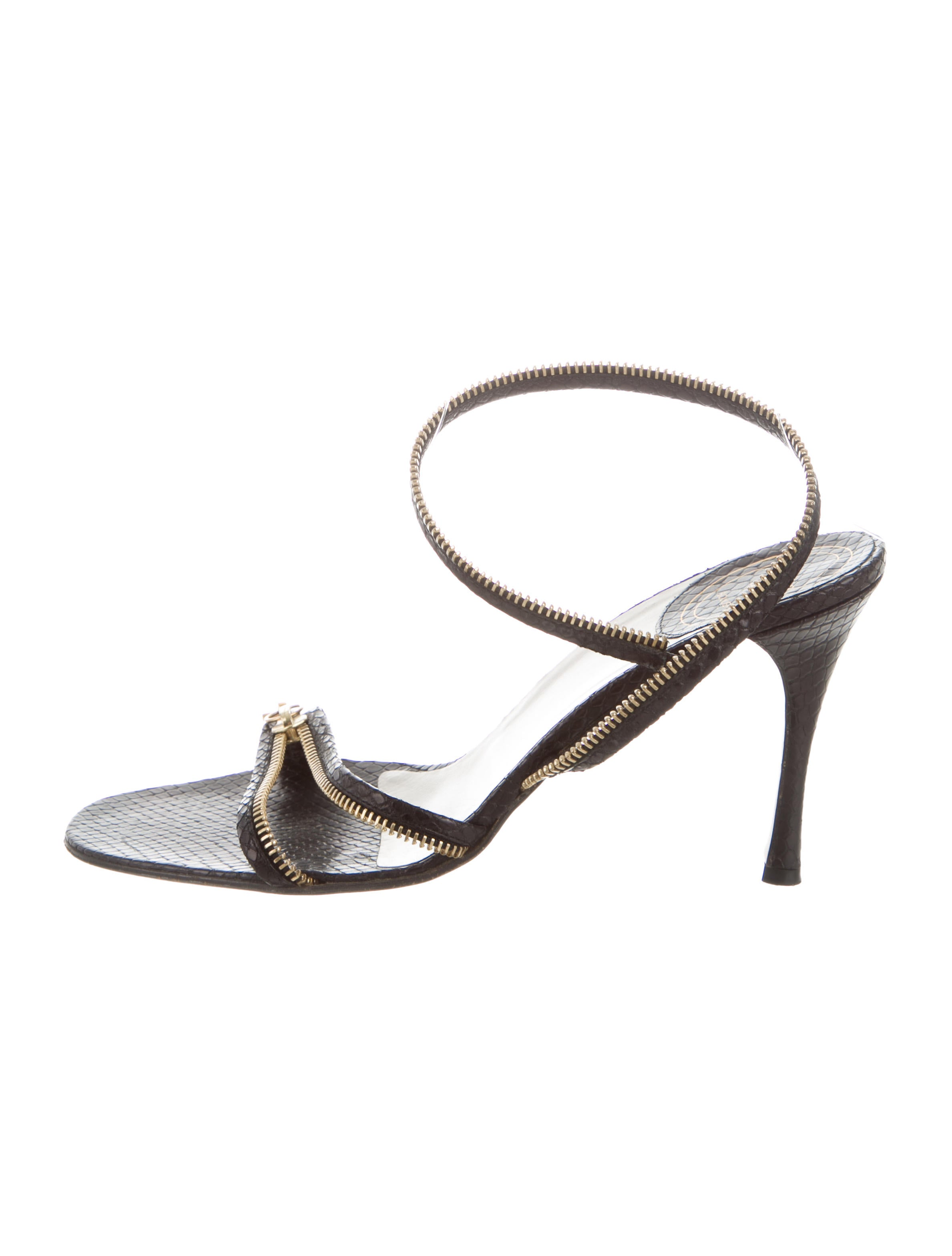 Christian Dior Embossed Zip-Accented Sandals discount brand new unisex hot sale cheap price cheapest price online td7G4BC4J3