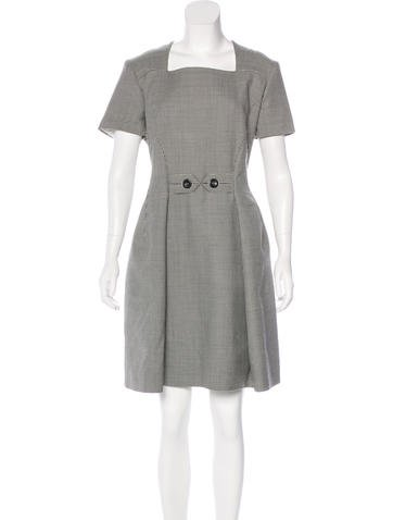 Christian Dior Wool Houndstooth Dress w/ Tags None