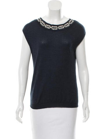 Christian Dior Wool Embellished Sweater None