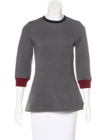 Christian Dior Knit Virgin Wool Top None