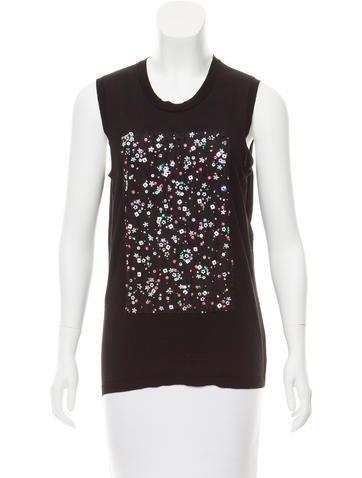 Christian Dior Silk-Paneled Wool Top None