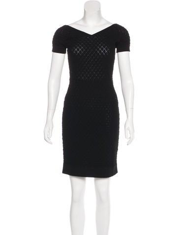 Christian Dior V-Neck Mini Dress None