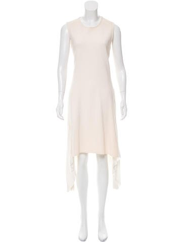 Christian Dior Pleated-Accented Knit Dress None