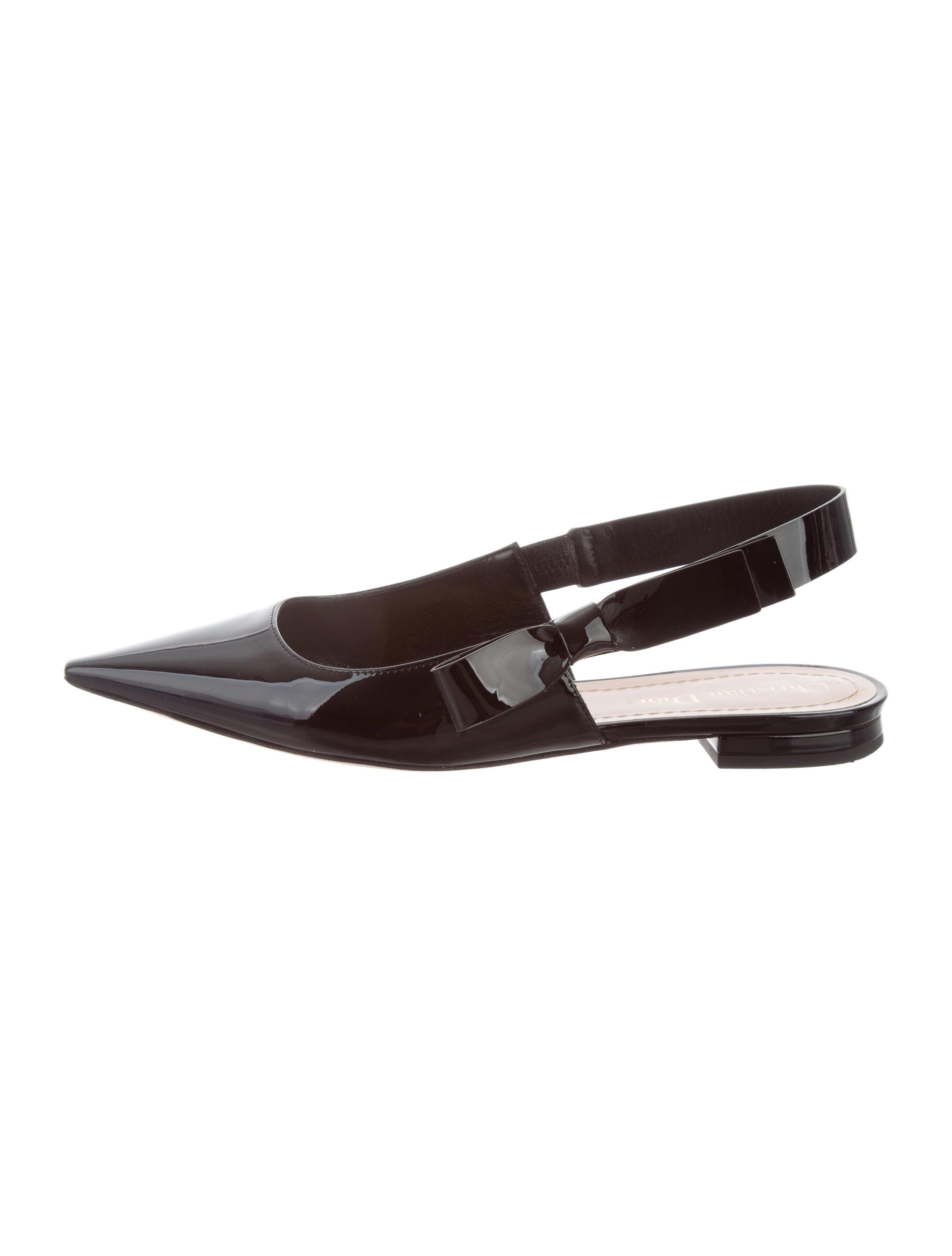 f3ee866068d3 Christian Dior Bow Slingback Flats - Shoes - CHR63314