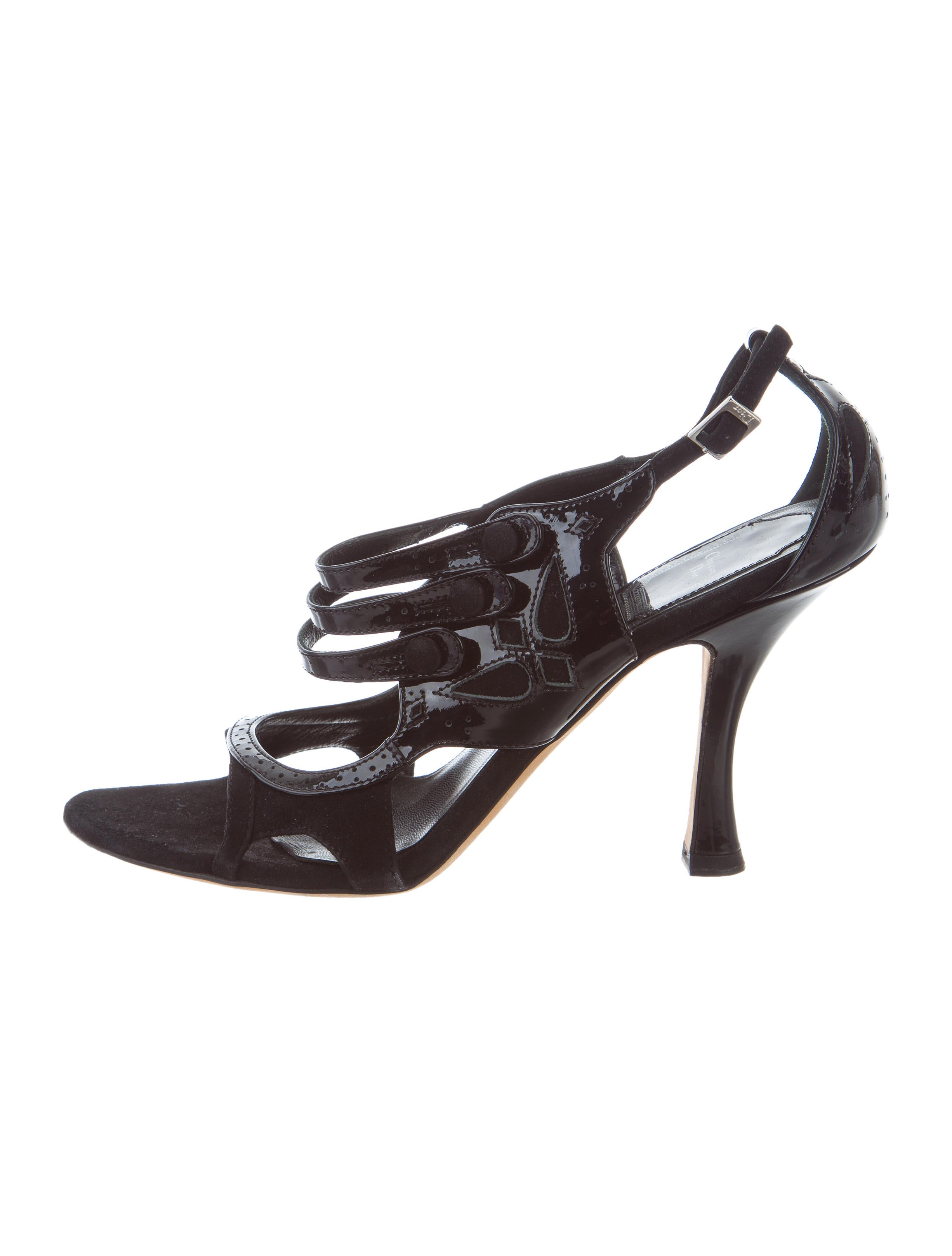 Christian Dior Patent Leather Multistrap Sandals cheap manchester great sale outlet locations for sale buy cheap get to buy buy cheap 100% guaranteed cheap best seller iwZOlX