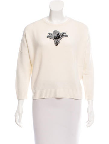 Christian Dior Embellished Cashmere Sweater None