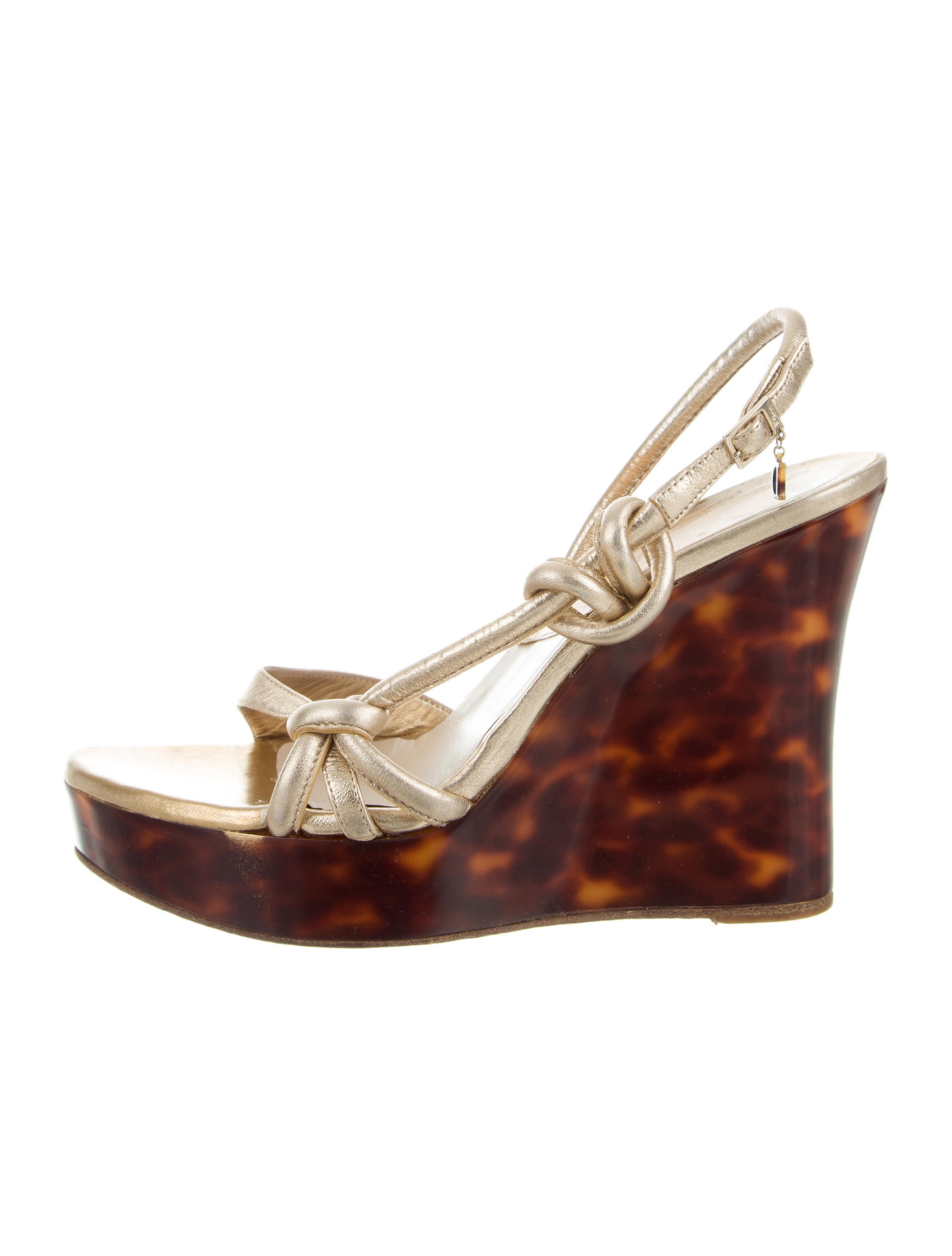 Christian Dior Leather Wedge Sandals shopping online free shipping explore niOkMRgJm