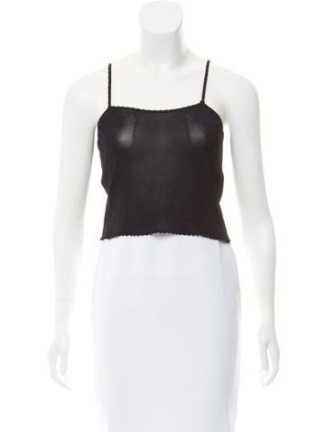 Christian Dior Sleeveless Semi-Sheer Top None