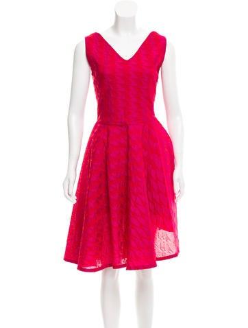 Christian Dior Textured Knee-Length Dress None