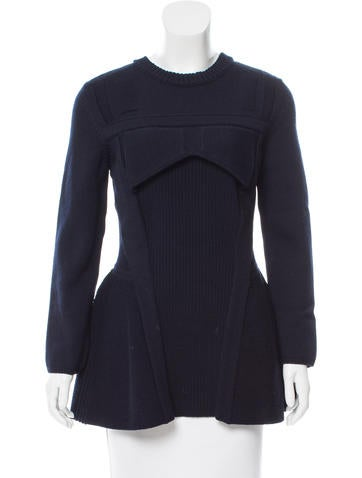 Christian Dior Flared Wool Sweater None