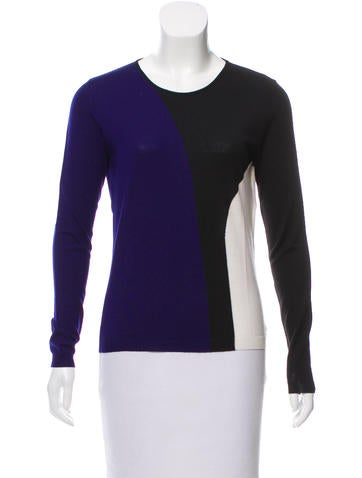 Christian Dior Wool Colorblock Top None