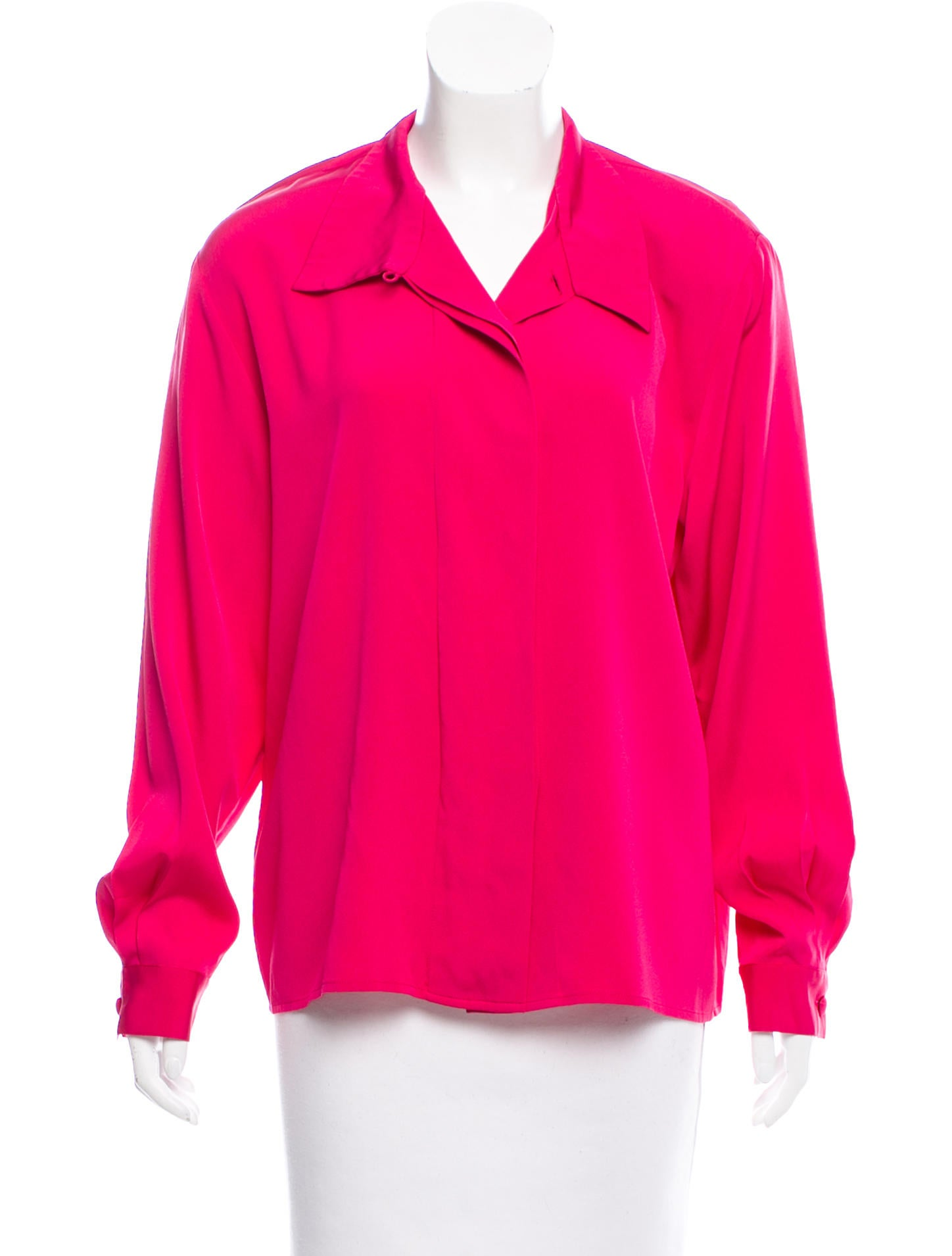 Christian dior silk button up top clothing chr64882 for Christian dior button up shirt