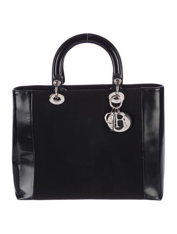 Christian Dior Woven Lady Dior Bag None