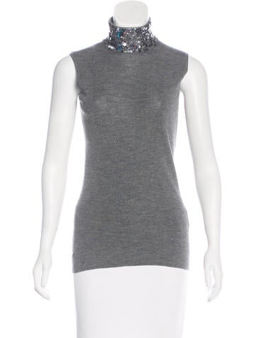 Christian Dior Silk & Wool-Blend Top None