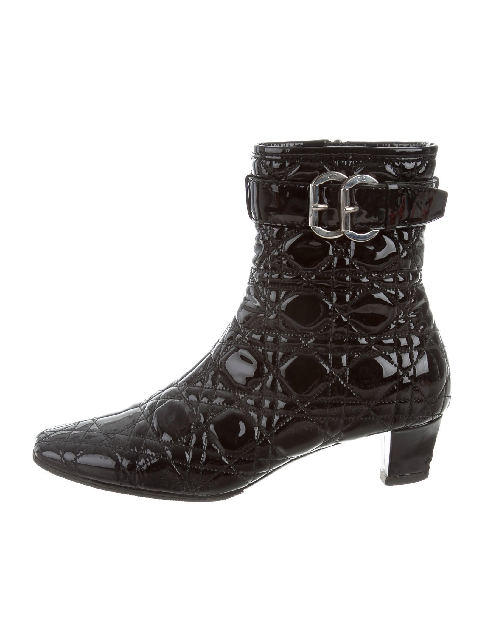 Christian Dior Cannage Leather Ankle Boots