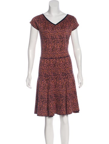 Christian Dior Intarsia Midi Dress None
