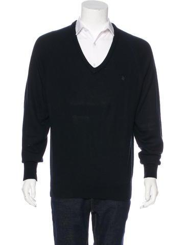 Christian Dior Knit V-Neck Sweater None