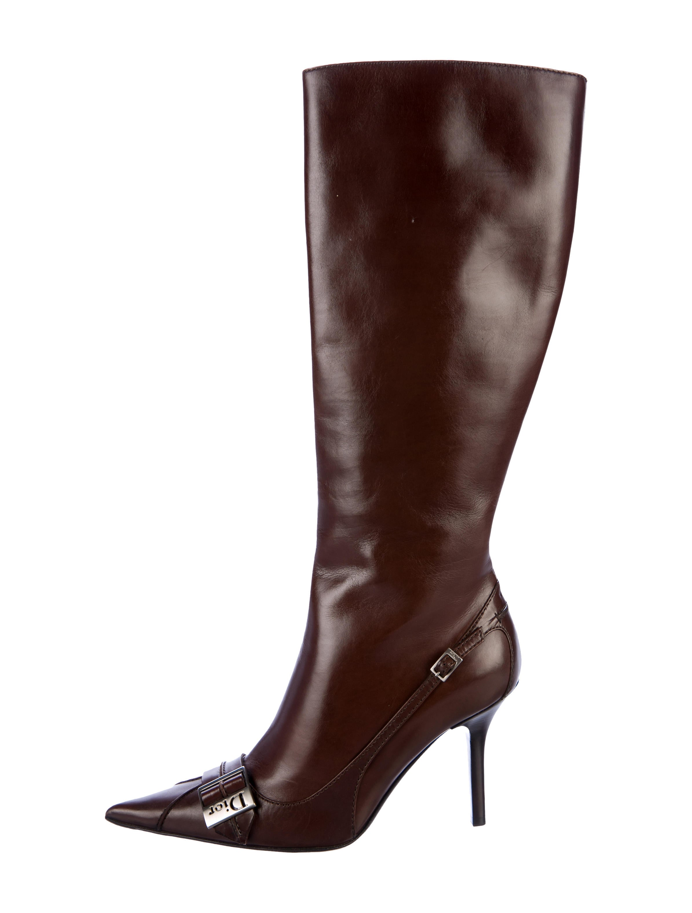 cheap sale footaction Christian Dior Leather Knee-High Boots clearance clearance store I5Homt8