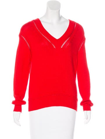 Christian Dior Wool & Cashmere V-Neck Sweater None