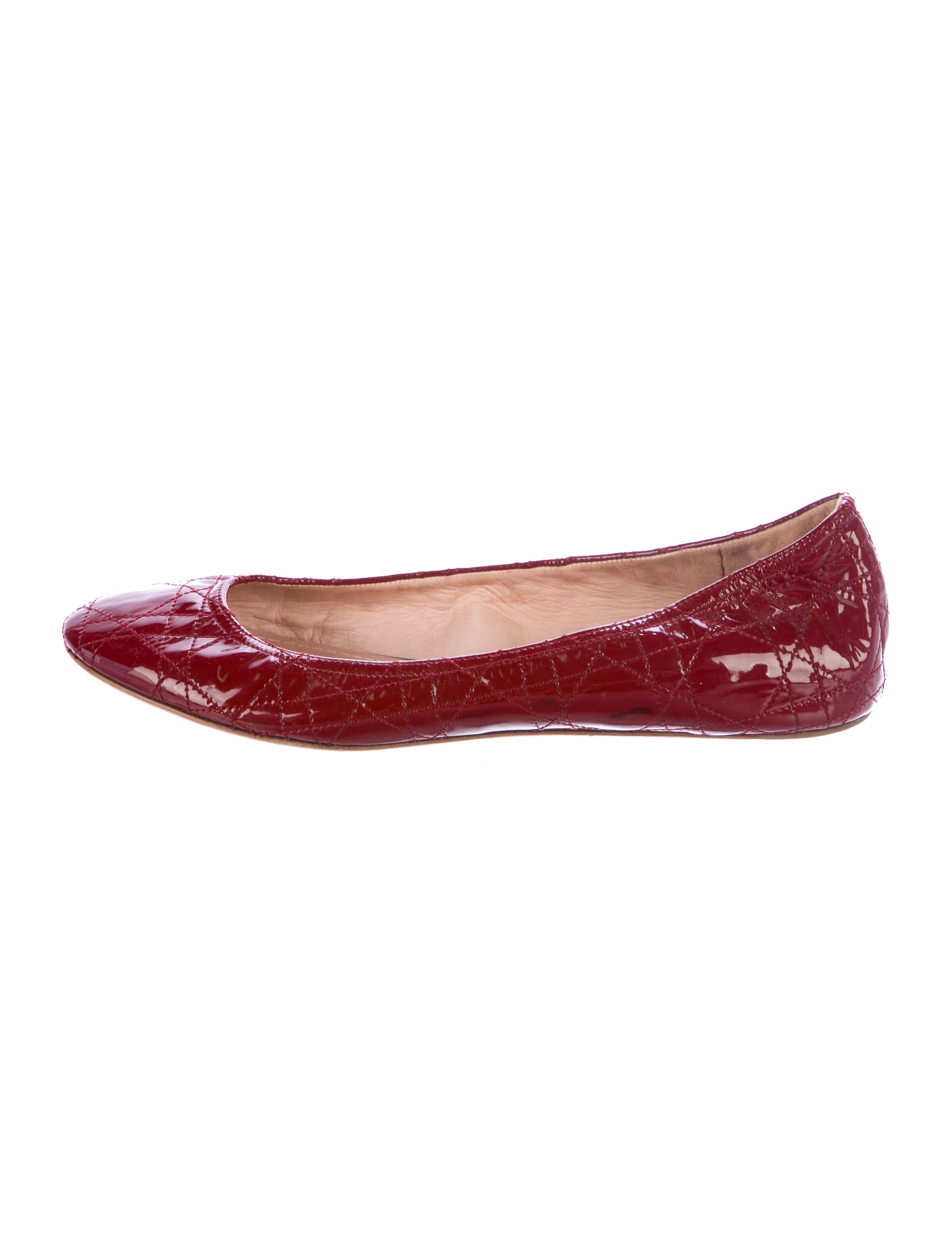 huge surprise online outlet genuine Christian Dior Patent Leather Cannage Flats cheapest price sale online best seller for sale view cheap price WZtHr