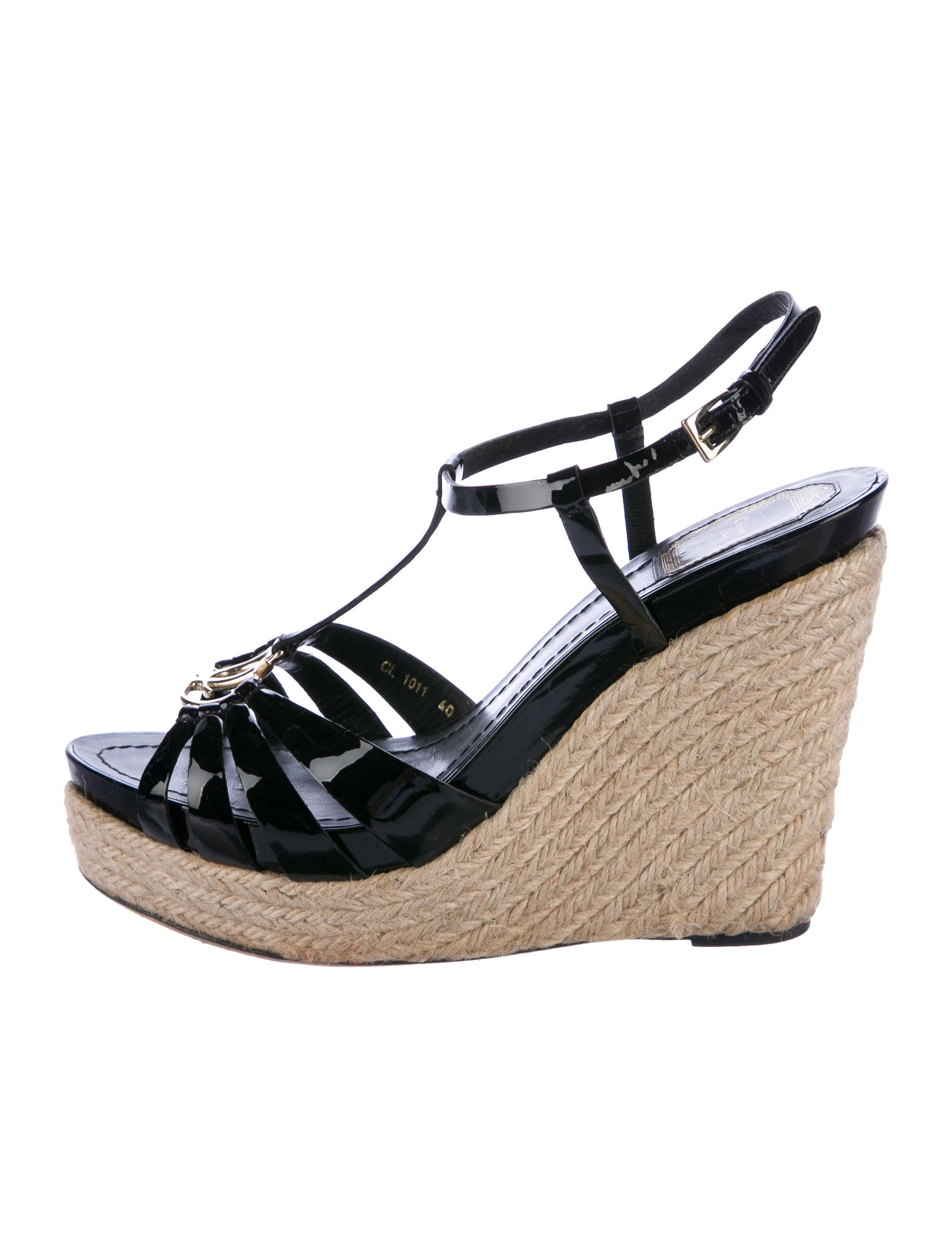 7f8bbab5cea712 Christian Dior Logo Platform Wedges - Shoes - CHR66277
