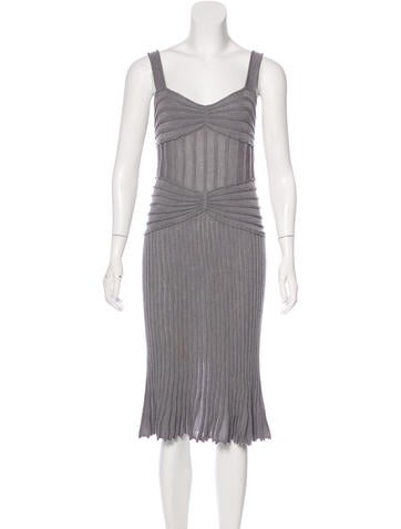 Christian Dior Sleeveless Knit Dress None
