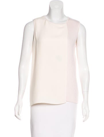Christian Dior Sleeveless Rib Knit Top None