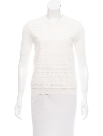 Christian Dior Crocheted Wool Top None