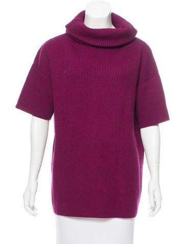 Christian Dior Short Sleeve Rib Knit Turtleneck None
