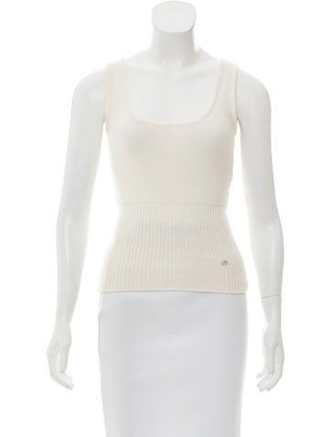 Christian Dior Sleeveless Wool Top None