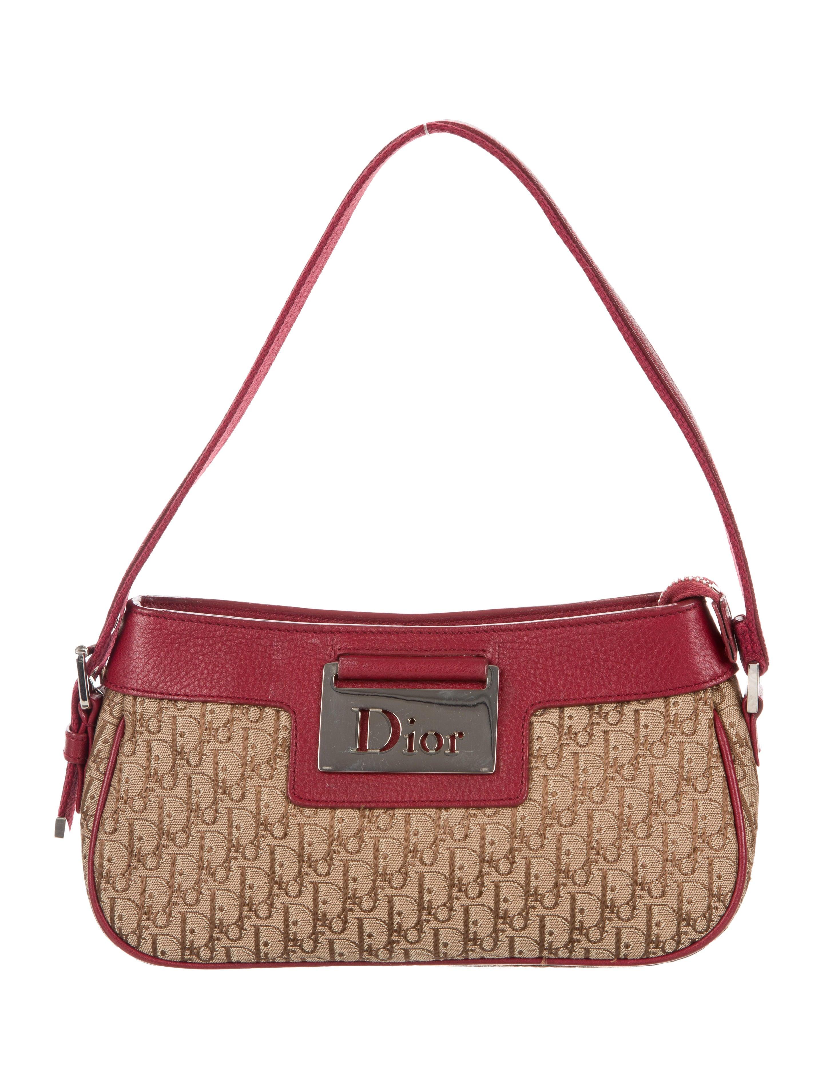 Christian Dior Diorissimo Jacquard Shoulder Bag - Handbags ... b9ce77c61275a
