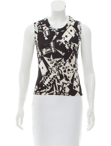 Christian Dior Patterned Sleeveless Top None