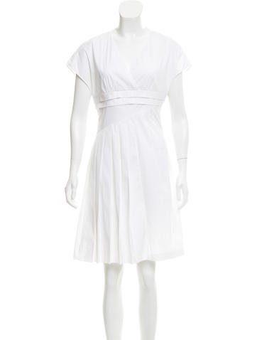 Christian Dior Pleated Knee-Length Dress None