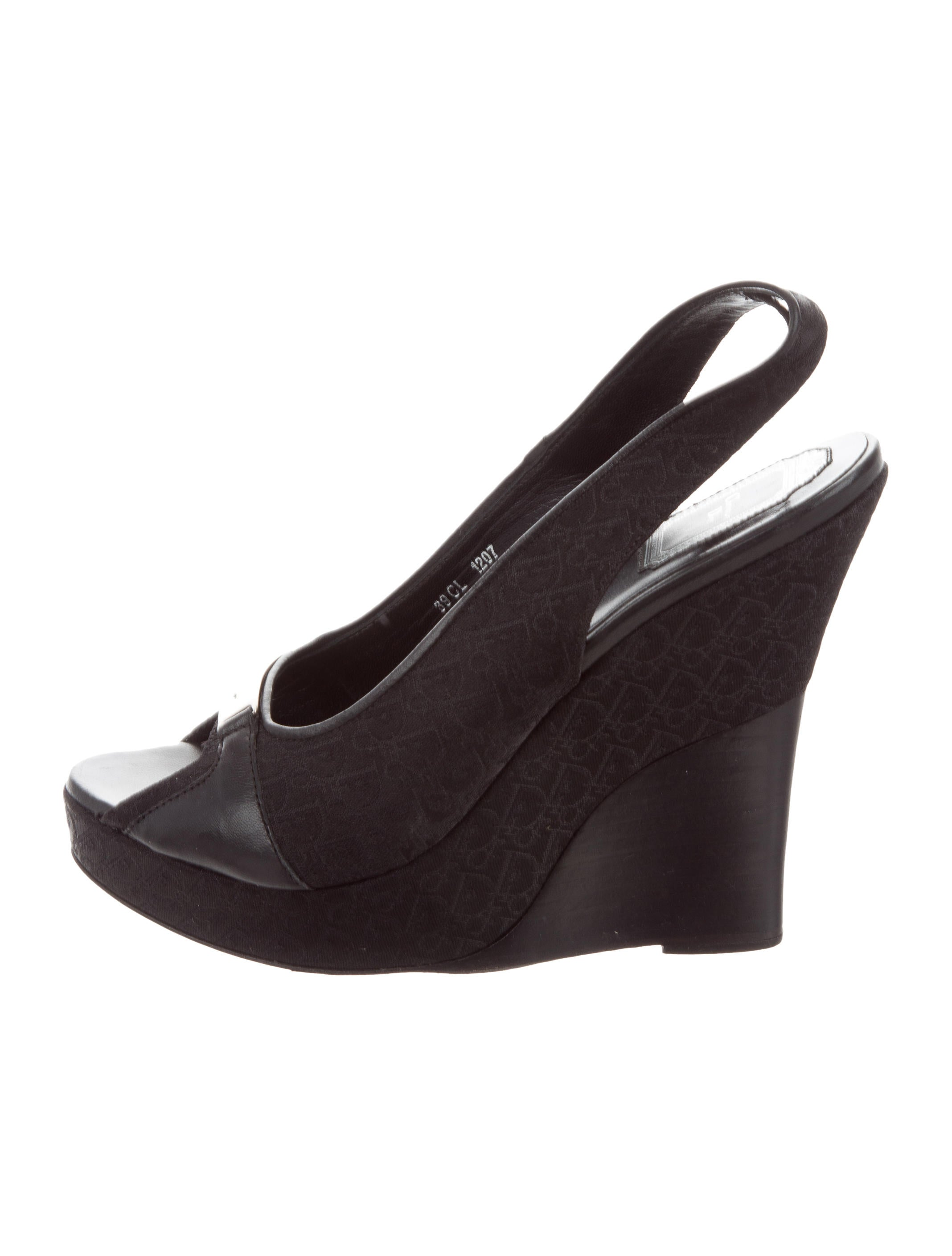 Christian Dior Diorissimo Wedge Sandals outlet order cost cheap price clearance great deals clearance store 0Ka3W66e5V