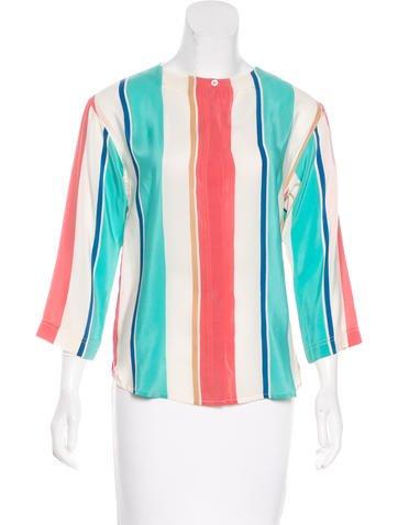 Christian Dior Silk Button-Up Top None