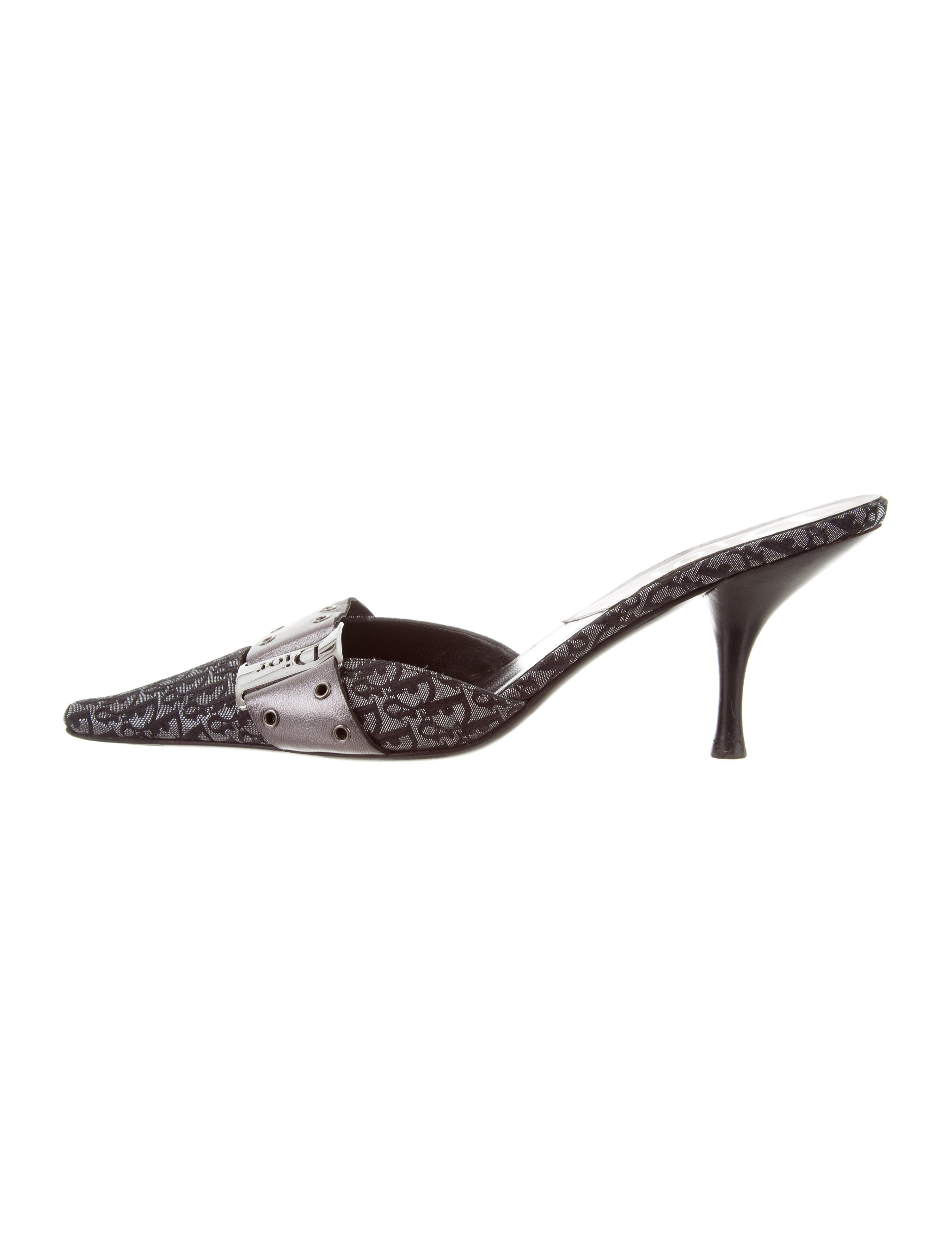 hot sale outlet clearance store Christian Dior Diorissimo Logo-Accented Mules discount for cheap wide range of for sale jsQdkLhK