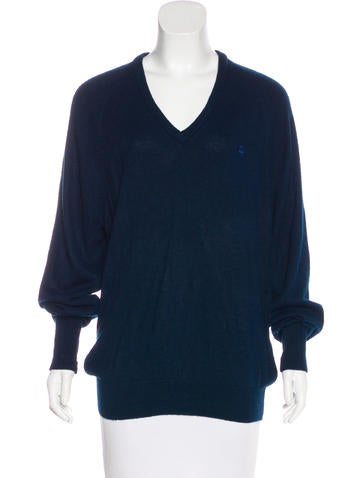 Christian Dior V-Neck Long Sleeve Sweater None