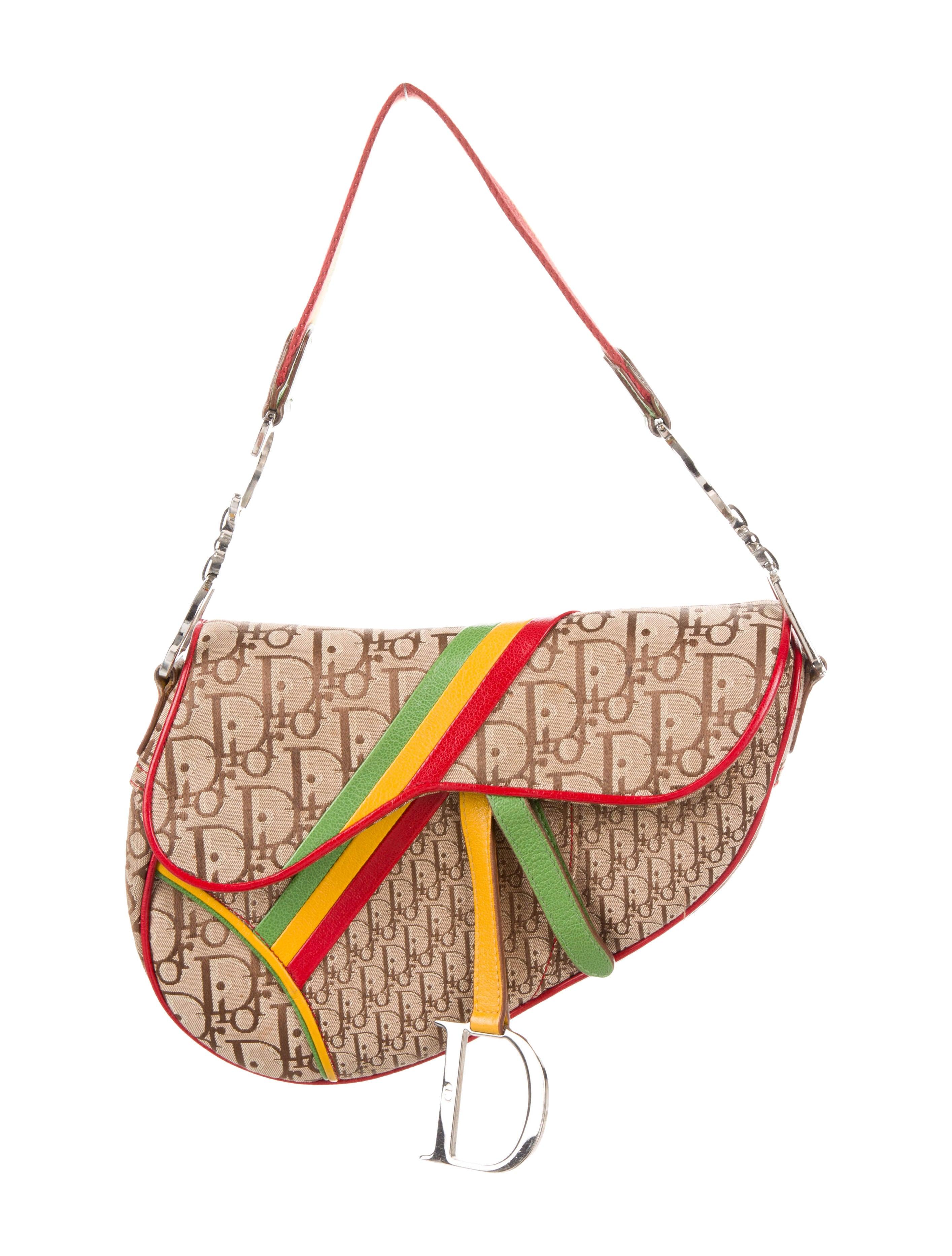 1860563fd6b3 Christian Dior Diorissimo Rasta Saddle Bag - Handbags - CHR67911 ...