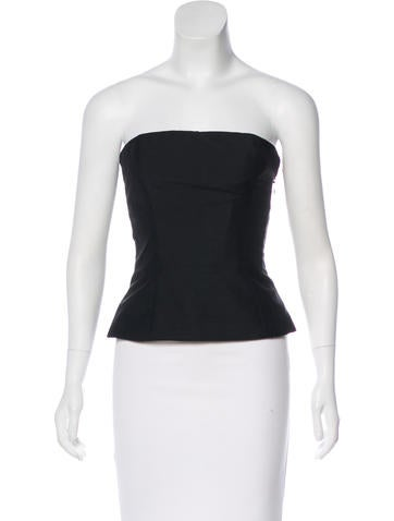 Christian Dior Woven Bustier Top None