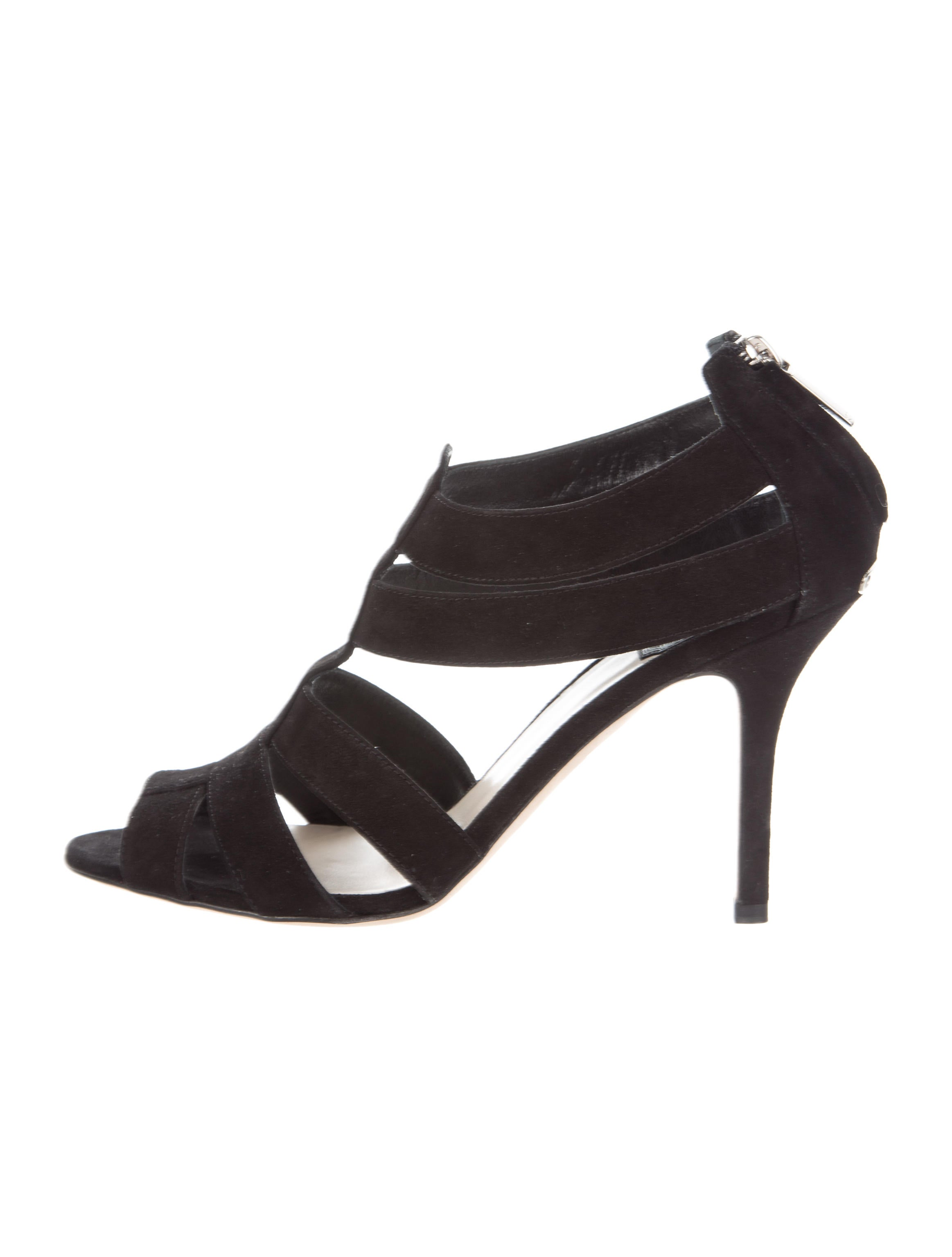 Christian Dior Suede Caged Sandals clearance outlet best store to get cheap price best prices cheap price best sale online discounts for sale YcntfS