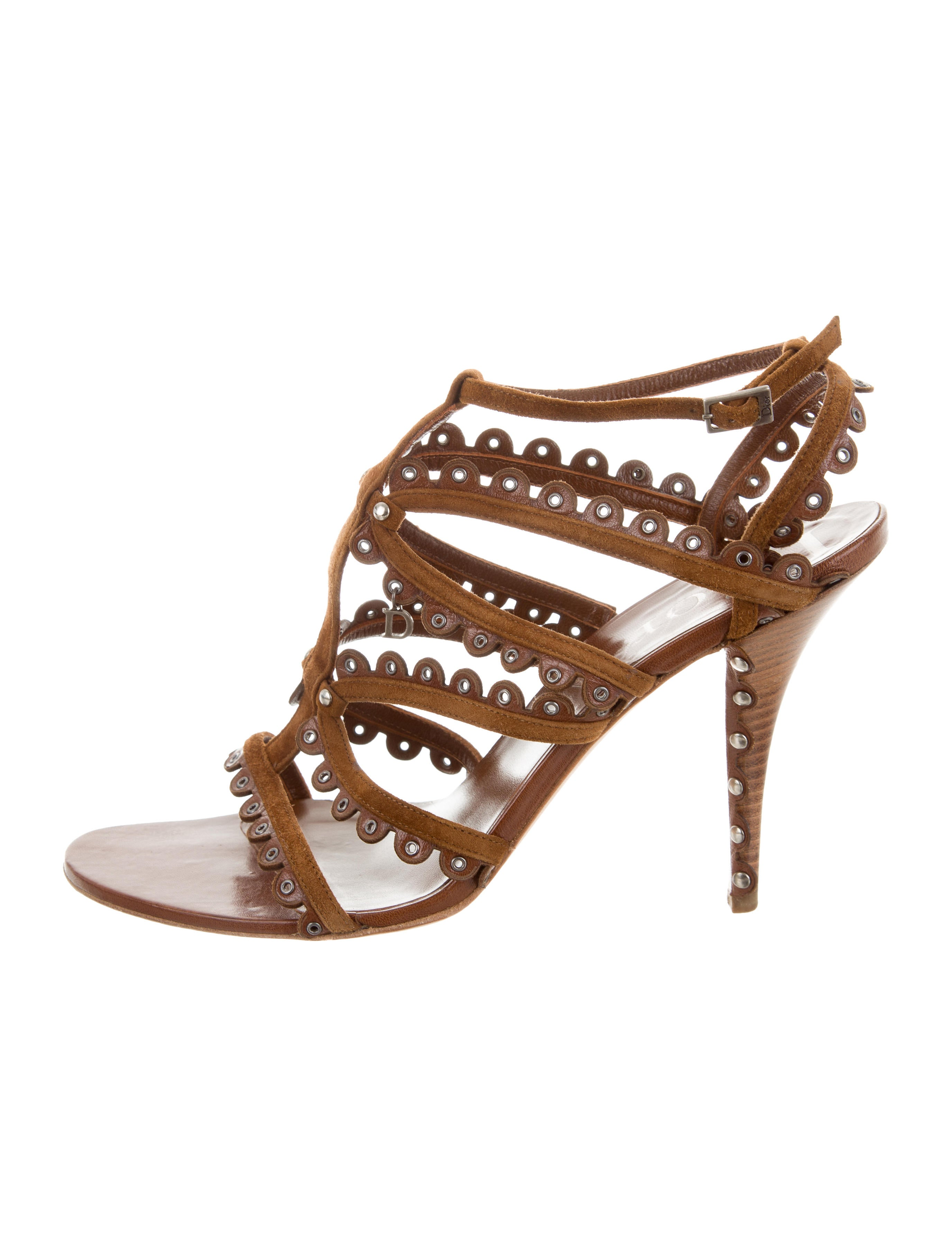 Christian Dior Embellished Suede Sandals finishline sale online cheap low shipping Tr3LWB6on