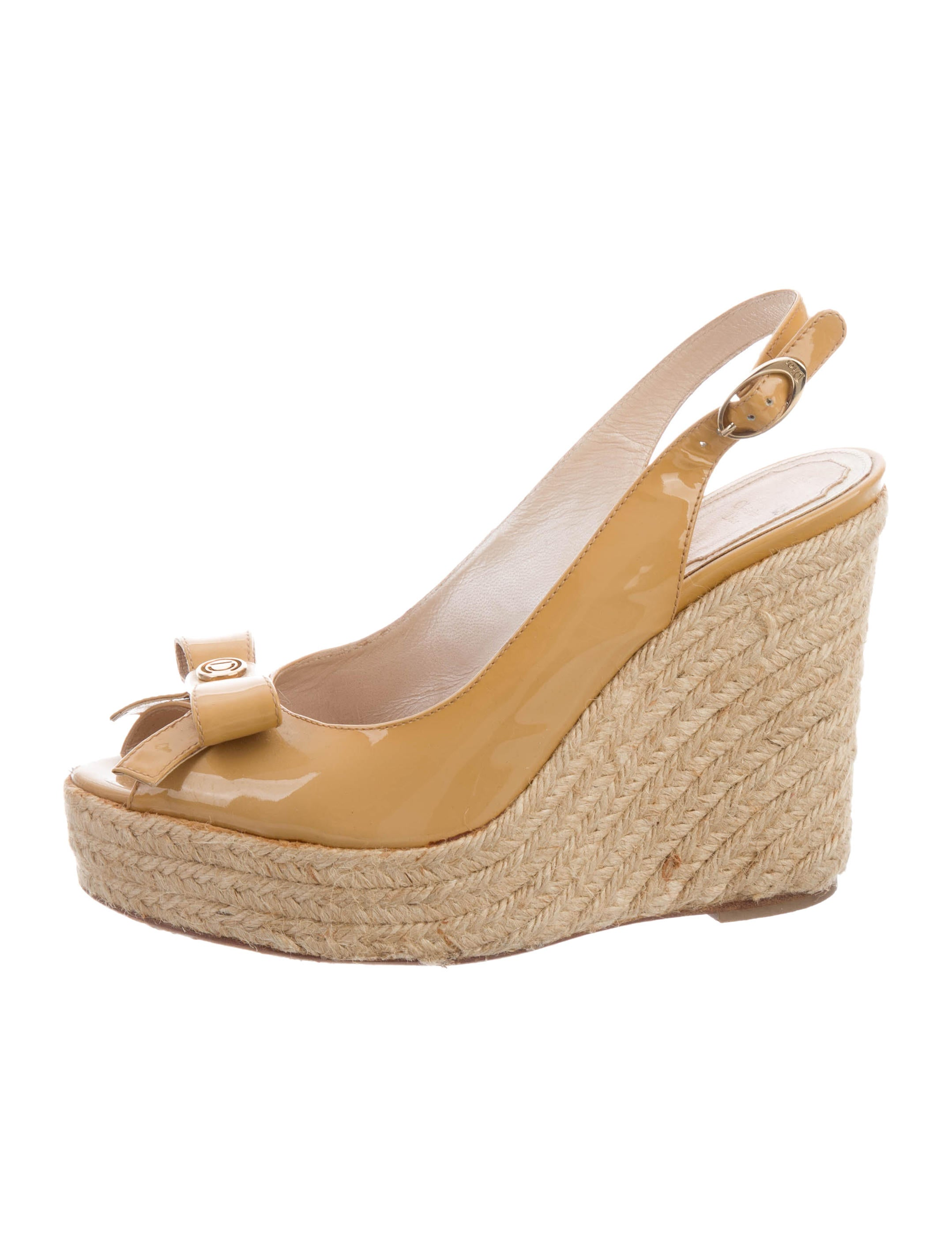 Christian Dior Patent Leather Espadrille Wedges cheap price in China clearance big sale discounts cheap online geniue stockist cheap online visit 7rlSkTx92N