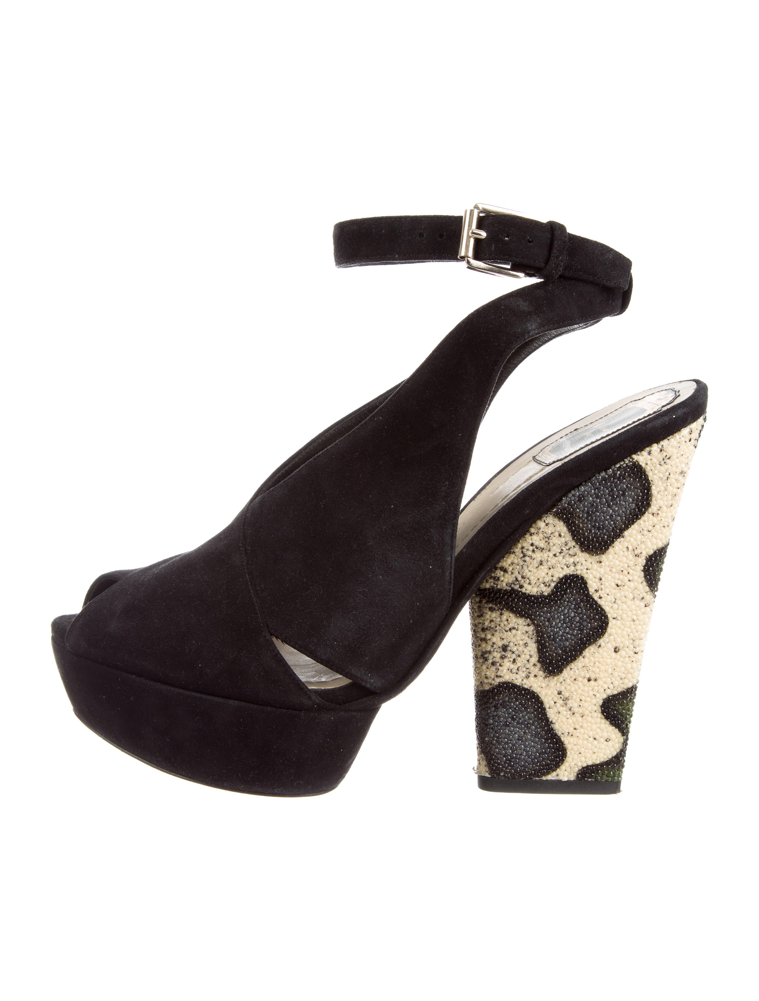 sale 2014 unisex Christian Dior Stingray-Trimmed Platform Sandals buy cheap good selling PyyrikLP