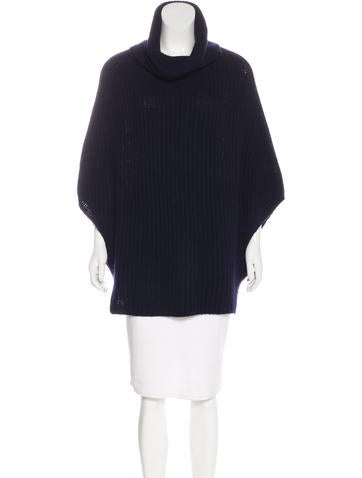 Christian Dior Turtleneck Knit Poncho None