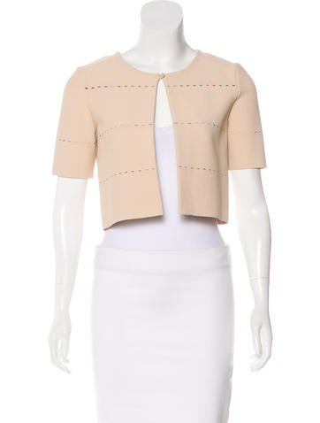 Christian Dior Perforated Crop Cardigan w/ Tags None