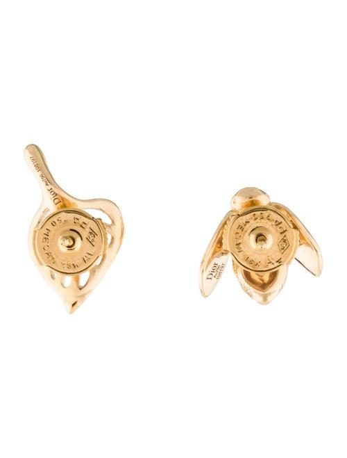 63f7801f1e Christian Dior 18K Diamond Pre Catelan Rose Earrings - Earrings ...
