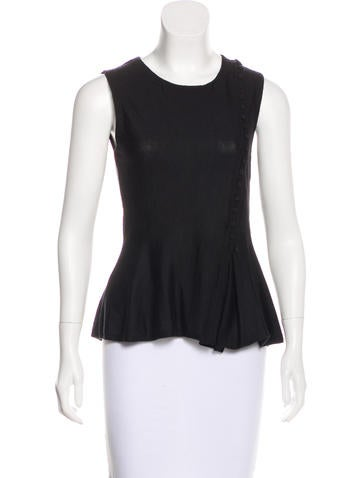 Christian Dior Sleeveless Cashmere Top None