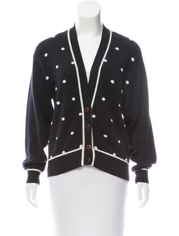 Christian Dior Printed Button-up Cardigan None