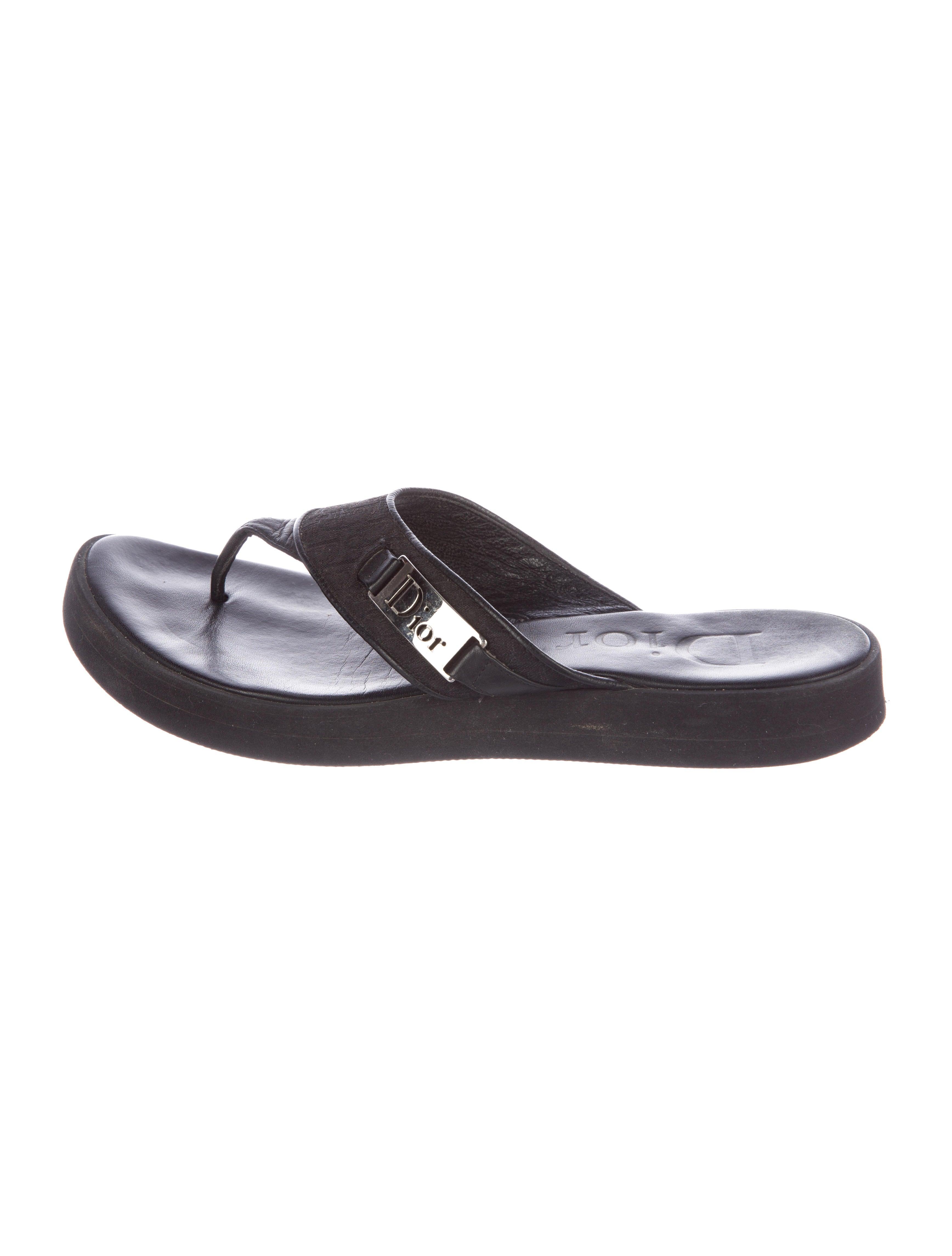 Christian Dior Monogram Thong Sandals quality outlet store PFTtBDWhqJ